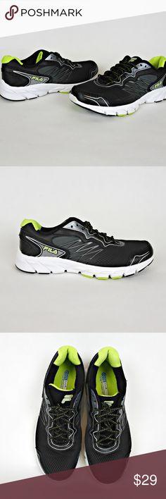 Fila Indus Mens Sneakers 12 CoolMax Black Shoes Fila CoolMax Indus Running  ~ Cross Training Leather b4c3b684b