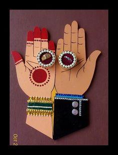 Engagement Ring Platter, Engagement Ring Holders, Engagement Rings, Engagement Decorations, Indian Wedding Decorations, Art N Craft, Craft Work, Wedding Crafts, Diy Wedding