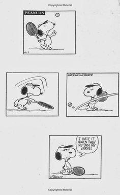 網球場的路上。to the tennis court: Snoopy and tennis
