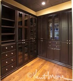 custom closet cabinets by kent moore cabinets maple wood with hand rubbed capuccino brown with - Kent Kitchen Cabinets