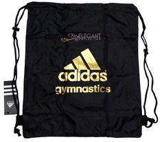 6165e0649fd Adidas Gymnastics Gear Bag Gym Sports Tote Drawstring Pack Nylon Sling Black