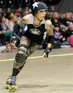 K. Lethal of Cincinnati Rollergirls. Color me impressed, when she jams 11 times of the final 12 jams in the D1 tournament of Fort Wayne. And she gets high lead jam percentages. And she helps her team win the game against Bleeding Heartland by 2 pts! What?! Photo cred: Jeffrey Sevier
