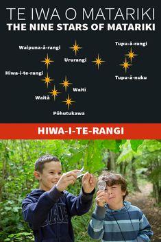 Te Iwa o Matariki Maori Words, Maori Symbols, Marine Plants, Winter Sky, Butterfly Tattoo Designs, The Nines, Early Childhood Education, Kiwi, Climate Change