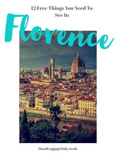 Nestled in the heart of beautiful Tuscany, Florence is one of Italy's most beautiful cities. Jam-packedwith historical sights, beautiful buildings and enough gelato to filleven thegreediest of tummies... 🤣 ...Florence really is an Italian city that