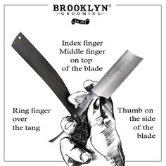 How to hold a straight razor blade #mensgrooming #bisonmade #brooklyngrooming…