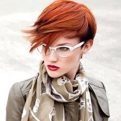great cut and fashion sense, gotta have great confidence to rock this cut and color
