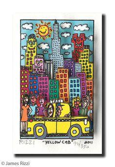 """Yellow Cab"" James Rizzi"
