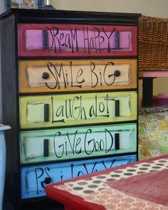 unpainted dresser ideas | Chevron Dresser Tutorial and other fun spray painted furniture | Art ...