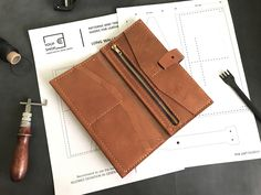 Simple Wallet, Diy Wallet, Long Wallet, Card Wallet, Clutch Wallet, Wallets For Women Leather, Womens Leather Wallet, Leather Wallet Pattern, Leather Workshop