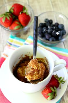 This easy cinnamon roll microwave mug cake is the perfect treat when you're…