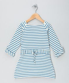 Take a look at this Blue Stripe Adventure Organic Dress - Girls by Scout Collection on #zulily today!