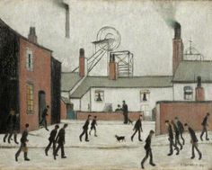 Buy Mill Workers 1948 oil painting reproductions on canvas. Museum quality hand-painted L-S-Lowry replica canvas. Salford, Photo To Oil Painting, Museum Art Gallery, Gallery Gallery, English Artists, British Artists, Spencer, Coal Mining, Victorian Art