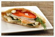This Open-Faced Pita Sandwich Recipe is available at HeartHealthRecipes.com.