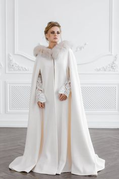 Women Lady Faux Fur Shawl Woolen Bride Wedding Bridal Warm Stylish Winter Jacket Upscale Delicacies Loved By All Jackets & Coats