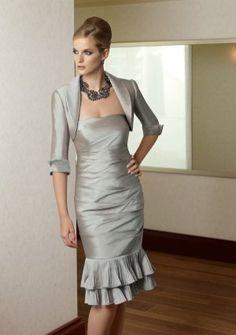 8e82530300 Sheath  Column Strapless Knee-length in Satin Mother of the Bride Dress  Kleider Online