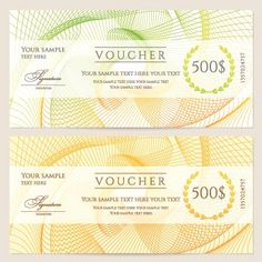Voucher template vector design 02