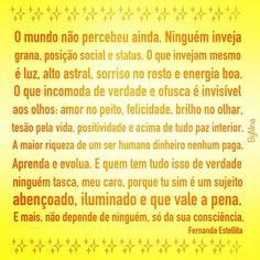 #frases #luz #inveja #instabynina