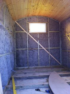 Shepherd hut with sheeps wool insulation