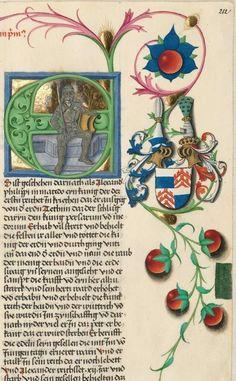 """Furtmeyr-Bibel (Deutsche Bibel """"Münchener Altes Testament""""). Band 1:  Genesis - Ruth. Cgm 8010a 1465-70, Regensburg Folio 212"""