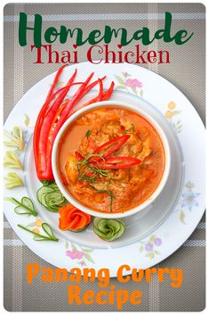 You can make this authentic Thai panang curry easily and quickly. It goes great with rice and it's not too spicy, not for most adults at least. You can always adjust the spiciness your self, enjoy. Thai Panang Curry, Panang Curry Recipe, Thai Curry Recipes, Spicy Chicken Recipes, Indian Food Recipes, Asian Recipes, Ethnic Recipes, Easy One Pot Pasta Recipe, Easy Delicious Recipes