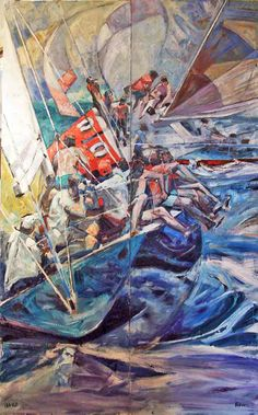 Willard Bond - Hanging On; Annapolis Marine Art Gallery