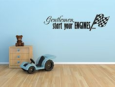 GENTLEMAN START YOUR ENGINES WITH CHECKERED FLAG RACING RACE CARS VINYL WALL DECAL STICKER BOYS KIDS ROOM HOME DECOR Unknown http://www.amazon.com/dp/B00NQMLNW8/ref=cm_sw_r_pi_dp_EMVDwb0DXAD2P