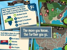 Geography Drive USA - great iPad app for all things US Geography related