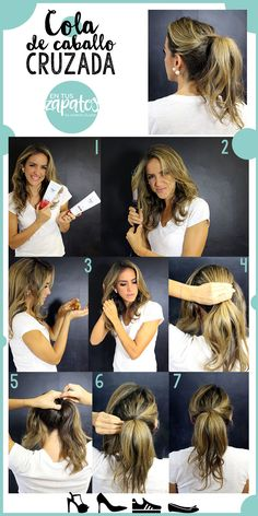 #MyHairStory #DovePartner #LatinaBloggers Tutorial-dove-cola-caballo-en-tus-zapatos-diy