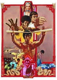 This Bruce Lee Enter The Dragon Movie Poster T Shirt is a faithful re-print of the legendary retro Kung Fu movie. A fitting tribute to the skill and mastery of the late Bruce Lee, this t shirt shows your appreciation of perhaps his finest work. Film Movie, See Movie, Cinema Tv, Films Cinema, Classic Movie Posters, Movie Poster Art, Art Posters, Brice Lee, Artiste Martial
