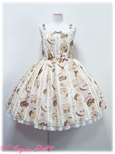 ♡♡ Angelic Pretty - Melty Cream Doughnut JSK in ivory; might be too short on me, but I love it more every time I see it