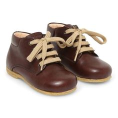 Leather shoes laces boy girl toddler laces brown
