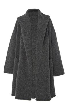 Charcoal Capote Knit Coat by LAUREN MANOOGIAN for Preorder on Moda Operandi