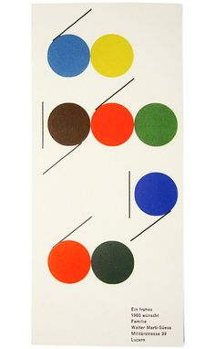 Wishing you a happy 1960 Card — Walter Marti