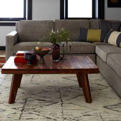 $400 Patchwork Coffee Table   west elm  Reddish wood