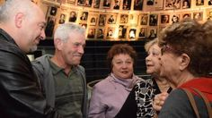 First cousins who thought their entire families had died in the Holocaust uniting at Yad Vashem, Dec. 13, 2016. (Courtesy of Yad Vashem)