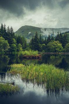 Moody skies above Glencoe Lochan, Scotland