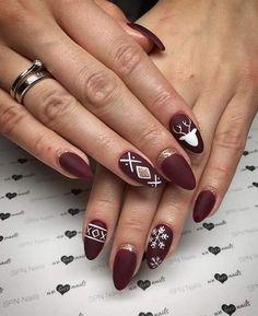 Diy Christmas Nail Art, Holiday Nail Art, White Christmas, Christmas Holiday, Christmas Trees, Cute Nails, Pretty Nails, Xmas Nails, Valentine Nails