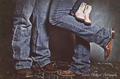 Maternity photo session idea pink cowboy boots. Photo by Natalie Eberhard Photography,  Nevada,  Missouri
