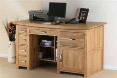 Oakfurnitureland Tokyo Solid Oak Large Computer Desk | eBay