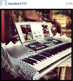 Bedazzled keyboard piano.