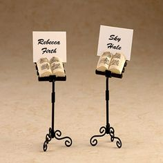 Music Stand Placecard Holders
