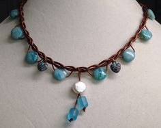 A personal favorite from my Etsy shop https://www.etsy.com/listing/269263139/fresh-chic-patina-pearls-and-jasper