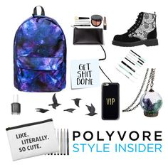 """kermon"" by itstyrell on Polyvore featuring T.U.K., Faber-Castell, Clinique, Post-It, Casetify, Jayson Home, Bobbi Brown Cosmetics, Essie, backpacks and contestentry"