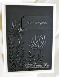 Black Velvet Sympathy Card