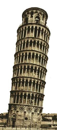 Tower Of Pisa.Check out our interesting engineering facts and get some cool trivia related to amazing structures, famous landmarks and other impressive engineering achievements - great for kids and families! Famous Monuments, Famous Buildings, Unique Buildings, Amazing Buildings, Famous Landmarks, Famous Places, Famous Bridges, Pisa Italia, Famous Structures