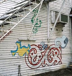 A piece called Signature consisted of 'graffiti tags' SHELLEY MILLER