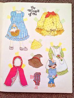 Wizard of oz Paper Doll Book Uncut 1976 Whitman | eBay