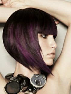 I love the shape of this haircut. If those were red instead of purple, it'd be JUST what I want.