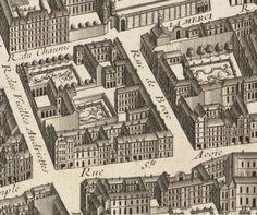 La rue de Braque en 1739, plan de Turgot - Paris 3e