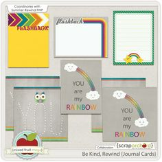 Quality DigiScrap Freebies: Be Kind, Rewind journal cards freebie from Scrap Orchard
